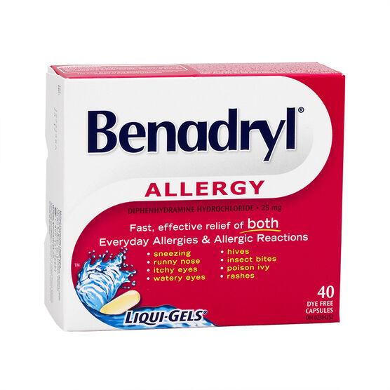 Benadryl Allergy Fast Acting Liqui-Gels - 40's