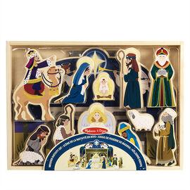 Melissa & Doug - Wooden Nativity Set