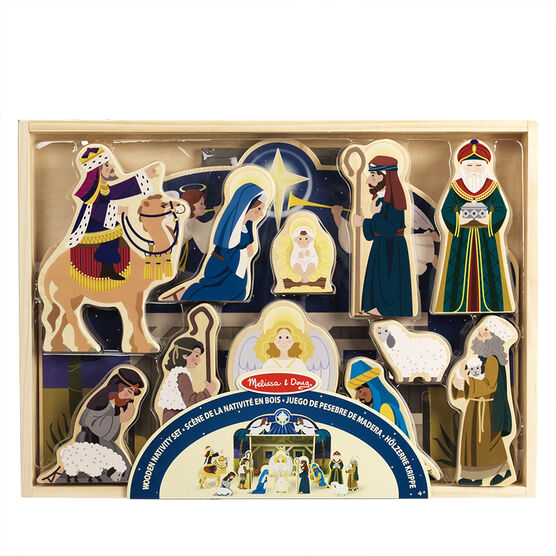Melissa & Doug - Wooden Nativity Set