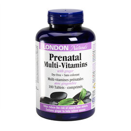 London Naturals Prenatal MultiVitamins with Ginger - 180's