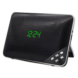 Escape Flat Bluetooth Speaker with Alarm Clock and Radio - Black - SPBT627