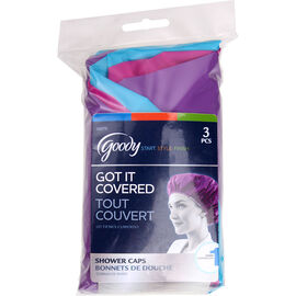 Goody Got It Covered Multi-Pak Shower Caps - 3's