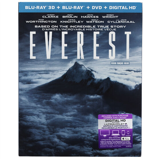 Everest - 3D Blu-ray
