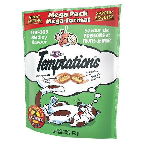 Whiskas Temptations Mega Pack - Seafood Medley - 180g