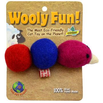 Wooley Fun Caterpillar Cat Toy - Assorted