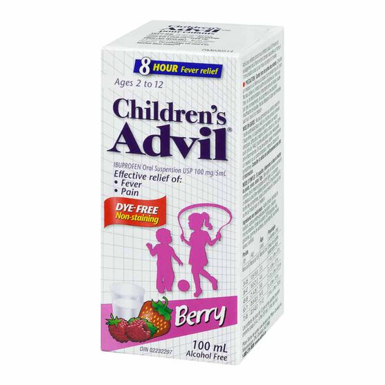 Advil Children's Suspension - Dye-Free Berry - 100ml