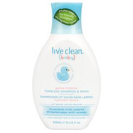 Live Clean Baby Tearless Shampoo & Wash - 300ml