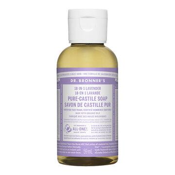 Dr Bronner's Liquid Soap - Lavender - 59 ml