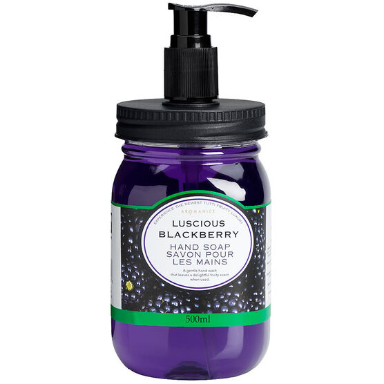 Aromanice Mason Jar Pump Handsoap - Luscious Blackberry - 500ml