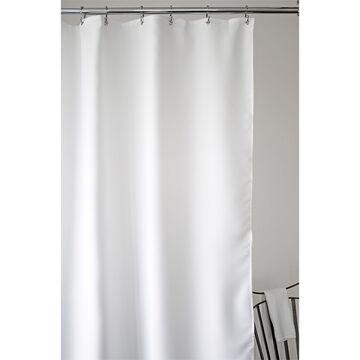 Splash Weave Solid Fabric Shower Curtain - White