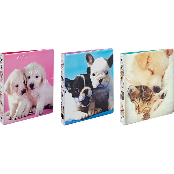 Avery Furry Friends Binder - Assorted - 1""