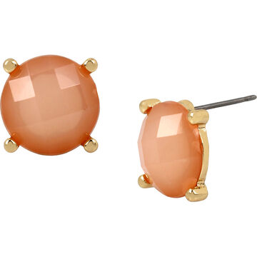 Haskell Stud Earrings - Peach/Gold