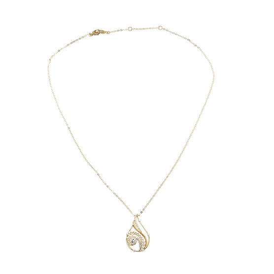 Eliot Danori Padma CZ Pendant Necklace - Gold