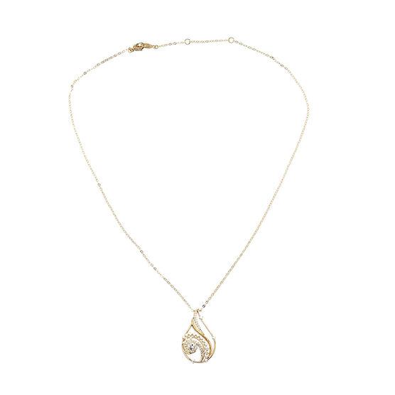 Eliot Danori Padma CZ Pendant Necklace - Gold
