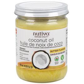 Nutiva Organic Coconut Oil - Organic Buttery Flavor - 414ml