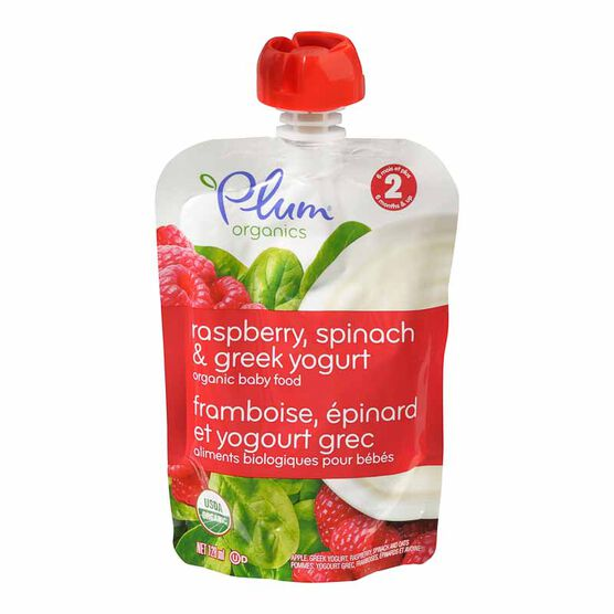 Plum Organics - Raspberry, Spinach and Yogurt - 128ml