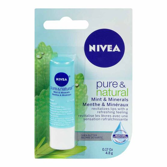 Nivea Pure & Natural Mint & Minerals Lip Care - 4.8g