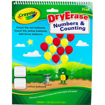 Crayola Dry Erase Numbers & Counting Activity Pages