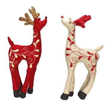 Winter Wishes Standing Deer - 20in - Assorted