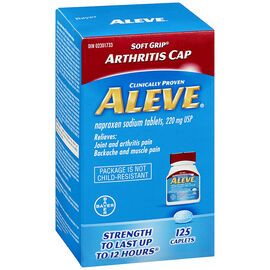 Aleve Caplets Soft Grip Arthritis Cap - 220mg - 125's