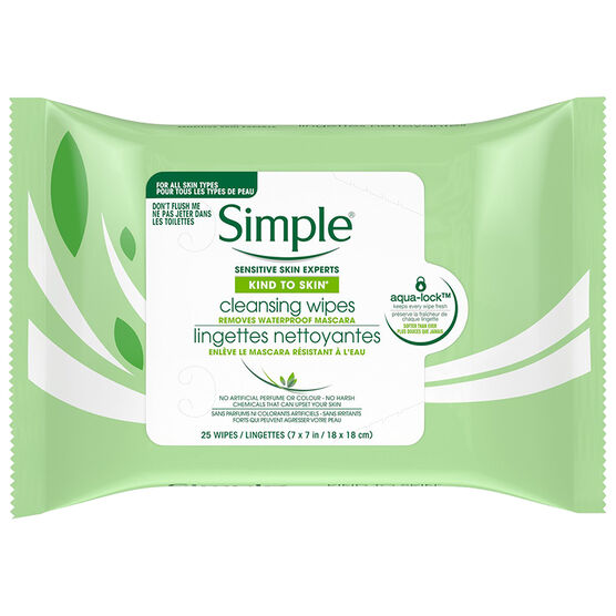 Simple Kind To Skin Cleansing Facial Wipes - 25s