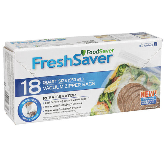 FoodSaver Fresh Saver Quart Zipperbags - 18 bags