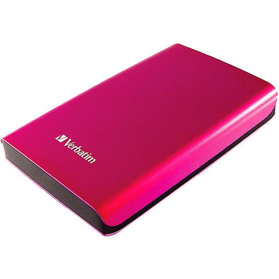 Verbatim 500GB Store 'n Go SuperSpeed USB 3.0 Portable Hard Drive - Pink - 97656