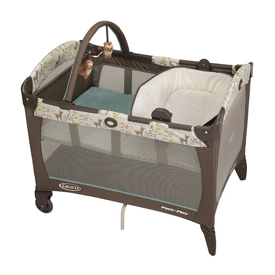 Graco Pack n Play with Reversible Napper and Changer - Meadow Menagerie - Brown/Blue