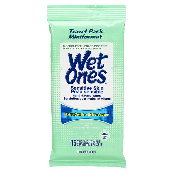 Wet Ones Travel Pack Sensitive Skin - 15's