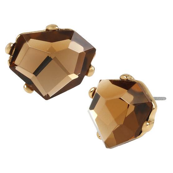 Robert Lee Morris Faux Topaz Stone Stud Earrings - Bronze