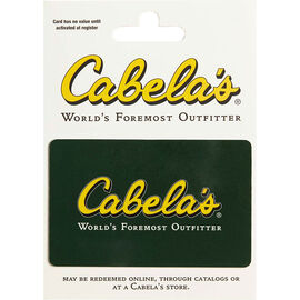 Cabelas Gift Card - $25