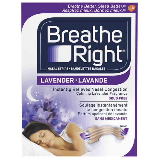 Breathe Right Nasal Strips Lavender - 8's