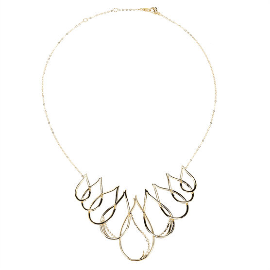 Eliot Danori Padma CZ Large Frontal Necklace - Gold