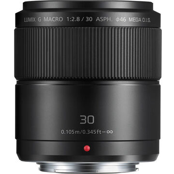 Panasonic LUMIX G MACRO 30mm f/2.8 ASPH Lens - Black - HHS030