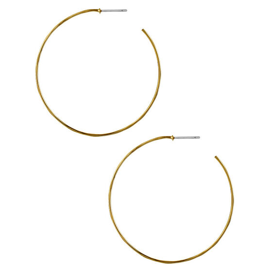Robert Lee Morris Gold Wire Hoop Earrings
