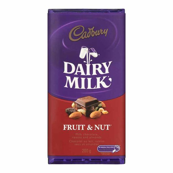 Cadbury Fruit & Nut Bar - 200g