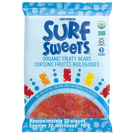 Surf Sweets Organic Fruity Bears - 78g
