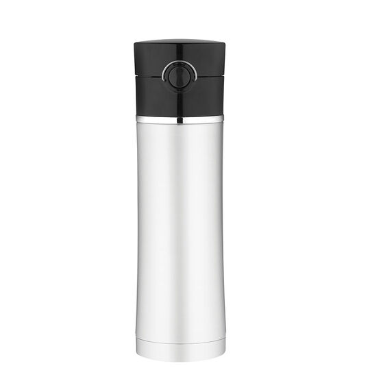 Thermos Premium Direct Drink Bottle - Black/Stainless - 470ml