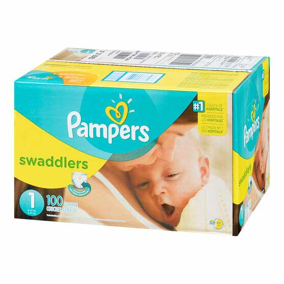Pampers Swaddlers Diapers - Size 1 - 100's