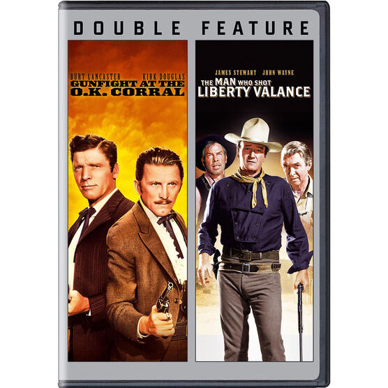 Double Feature: Gunfight at the O.K. Corral/The Man Who Shot Liberty Valance - DVD