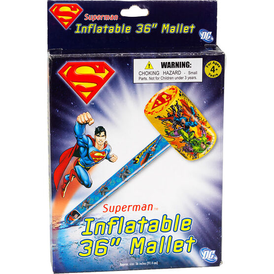 Inflatable Superman Mallet - 36""