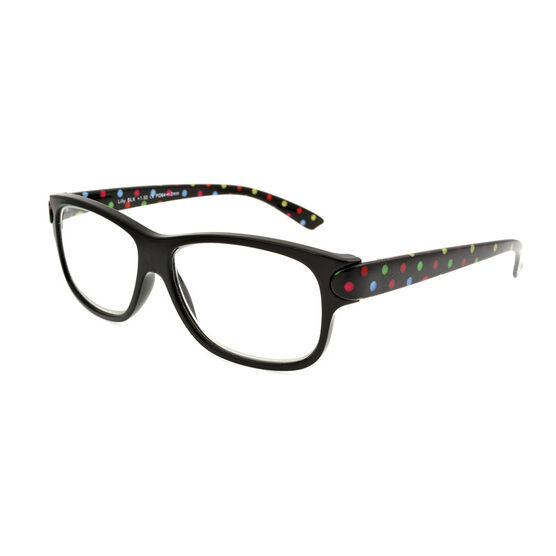 Foster Grant Lilly Reading Glasses with Case - Black - 1.50