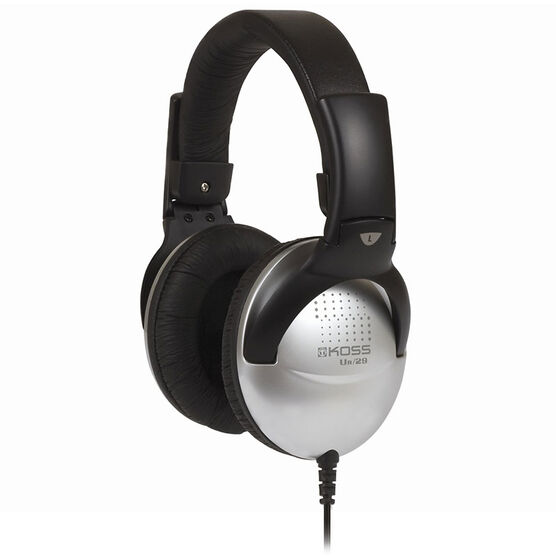 Koss Full Size Over Ear Headphone - Black/Silver - UR29