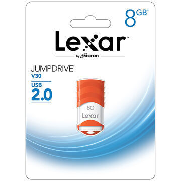 Lexar JumpDrive V30 USB 2.0 Flash Drive - 8GB - LJDV30-8GBABNL