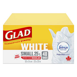 Glad Easy-Tie Kitchen Catcher Garbage Bags - Regular - 48's