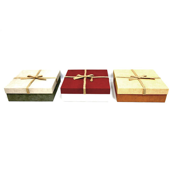Christmas Specialty Square Boxes - Large - 5403 - Assorted