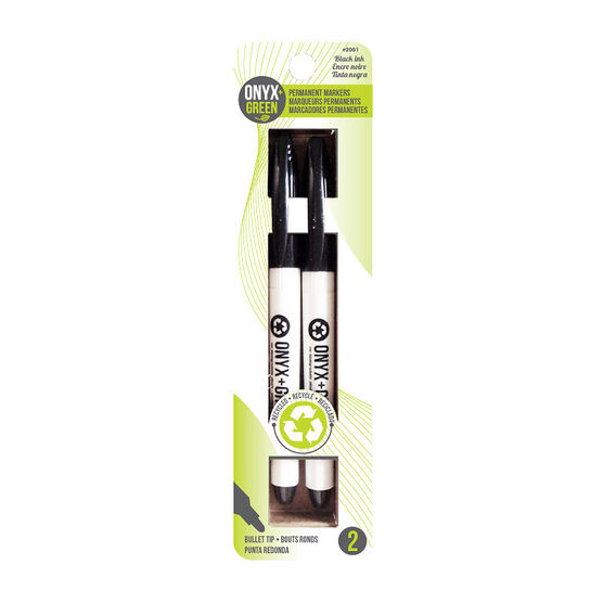 Onyx Green Permanent Markers - 2 pack