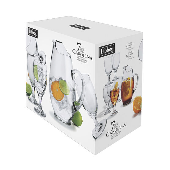 Libbey Carolina Pitcher Set - Clear - 7 piece