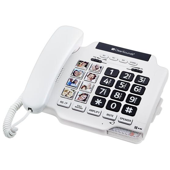 ClearSounds Amplified Corded Phone - White - CSC500