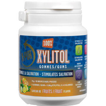 X-Pur Xylitol Gums - Fruit - 50's
